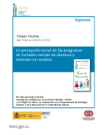 Imagen de la portada de la SEPARATA FINALISTA PREMIO FIAPAS 2012 en la que se puede leer el título del trabajo premiado