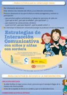Estrategias Interación Comunicativa con niños y niñas con sordera