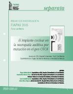 Portada de la Separata del Premio FIAPAS 2005 en el Área de Sanidad en la que se lee el título del trabajo premiado