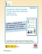 Portada de la Separata del Premio FIAPAS 2012. Área de Educación en la que se lee el título del trabajo premiado