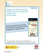 XIV edición Premio FIAPAS (Área de Sanidad)