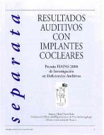 Imagen de la Separata del Premio FIAPAS 2000 - Área de Sanidad en la que se puede leer el título del trabajo premiado
