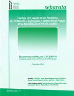 Control de Calidad de un Programa de Detección, Diagnóstico e Intervención Precoz de la Hipoacusia Infantil