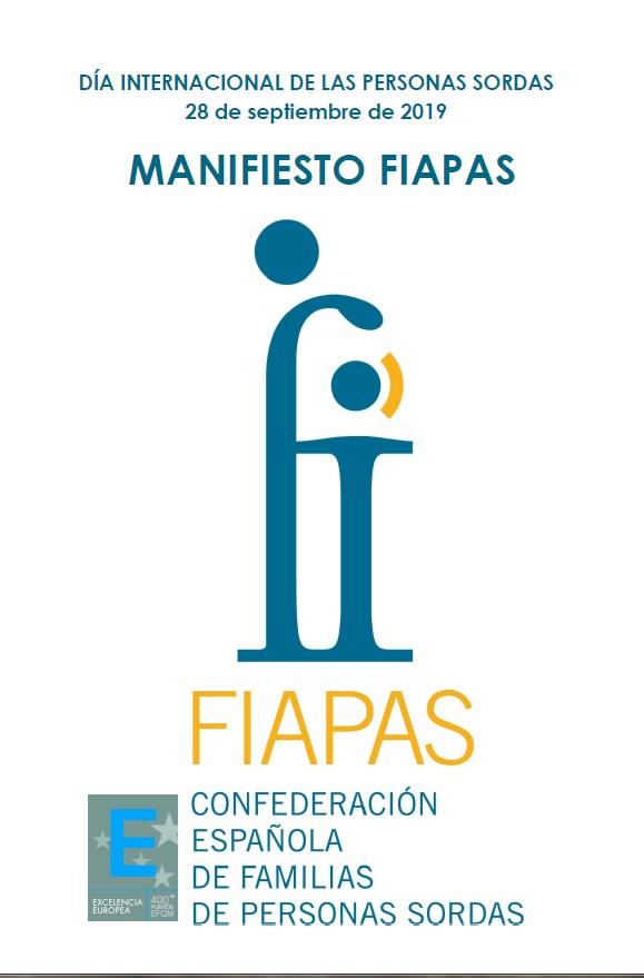 Manifiesto FIAPAS 2019. Accesibilidad, en todos los sentidos.