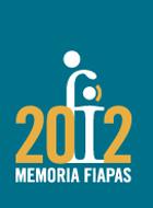 Portada de la Memoria FIAPAS del año 2012 en el que se ve el logotipo de la Entidad sustituyendo al número uno en los güarismos que forman el año.
