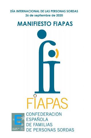 Manifiesto FIAPAS 2020. Fundamentalmente, hablamos de derechos.