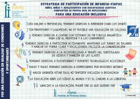 ESTRATEGIA DE PARTICIPACIÓN DE INFANCIA-FIAPAS. ACCIÓN 2020. Guía de reflexiones para una educación inclusiva
